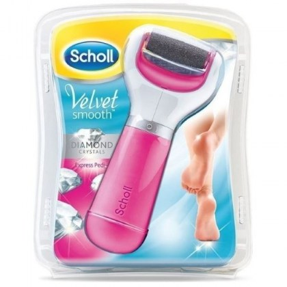 SCHOLL VELVET SMOOTH DIAMOND CRYSTALS EXPRESS PEDI PINK